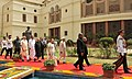 Pranab Mukherjee being led in a ceremonial procession to the Central Hall of the Parliament House to address the Joint Session of the Parliament, in New Delhi. The Vice President, Shri Mohd. Hamid Ansari, the Speaker.jpg