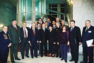 Russians in Azerbaijan - President Putin with Russian expatriates in Azerbaijan
