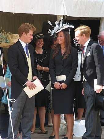 Middleton (centre) with Prince Harry (left) at  William's Order of the Garter investiture