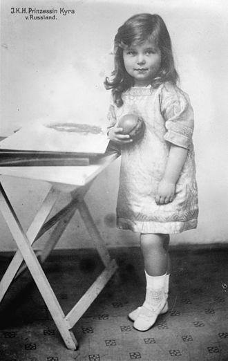 Grand Duchess Kira Kirillovna of Russia - Princess Kira of Russia, ca. 1912