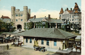 Princeton station (NJ Transit) - 1865 location (c.1910 postcard)