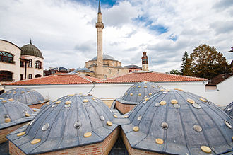 The Great Hamam of Pristina was built in the 15th century and was part of the Imperial Mosque in Pristina. Prishtina and the great Hamam.jpg