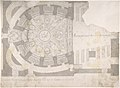 Projection of Ceiling Over Plan of the Small Theater in the Palace at Caserta MET DP801607.jpg