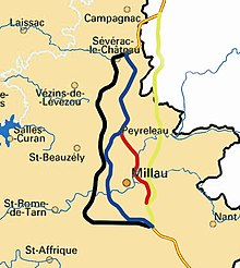 Millau Viaduct Location Map Millau Viaduct   Wikipedia