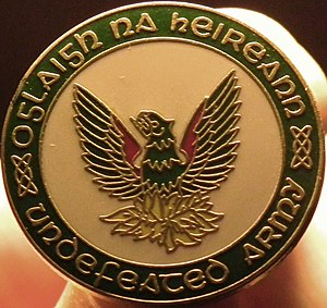 Provisional Irish Republican Army - An IRA badge – the phoenix is frequently used to symbolise the origins of the Provisional IRA.