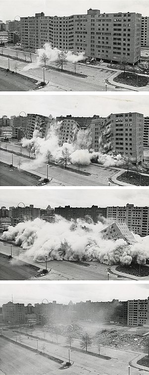 Pruitt–Igoe - Image: Pruitt igoe collapse series