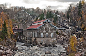 Saguenay, Quebec - Old Chicoutimi Pulp Mill was an early 20th-century industrial complex in operation from 1898 to 1930