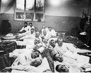 Battle of Tampere - Wounded Red Guard fighters in a hospital