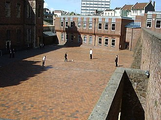 Queen Elizabeth's Hospital - The Yard, used for ball games during break and lunch