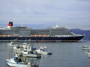 Manzanillo, Colima - MS ''Queen Victoria'' at Manzanillo.