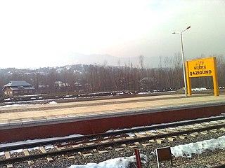 Qazigund railway station Railway station in Qazigund, Kulgam