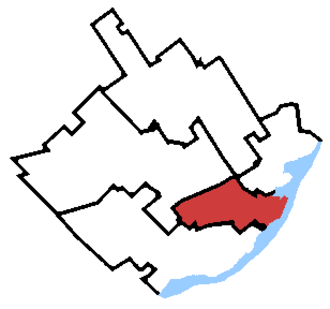 Québec (electoral district) - Québec in relation to other Quebec City federal electoral districts (2013 boundaries).