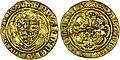 Quart de noble d'or sous Édouard III frappé à Calais.jpg