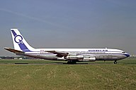 Quebecair Boeing 707-138B at Le Bourget Airport.jpg