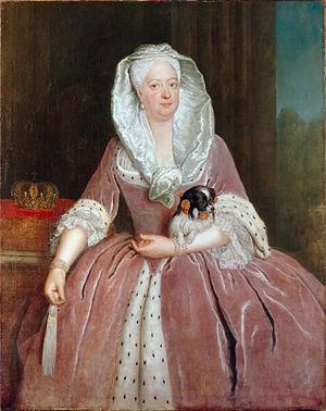 Sophia Dorothea of Hanover - Portrait by Antoine Pesne, 1726