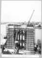 Queensland State Archives 3714 North main pier final pours of concrete below cap level Brisbane 18 November 1936.png