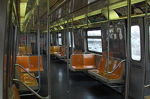 R68 (New York City Subway car) - Image: R68 Interior