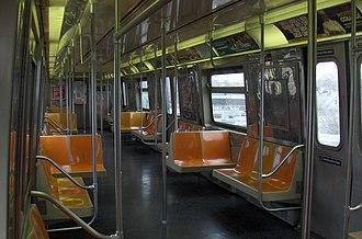 R68 (New York City Subway car) - Image: R68 Interior