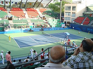 Tennis at the 2010 Commonwealth Games - Centre court of R.K. Khanna Tennis Complex