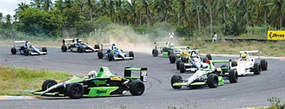 A typical raceday scene at Kari Motor Speedway Racing action in Coimbatore.jpg
