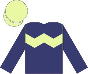 Nathaniel (horse) - Racing silks of Lady Rothschild
