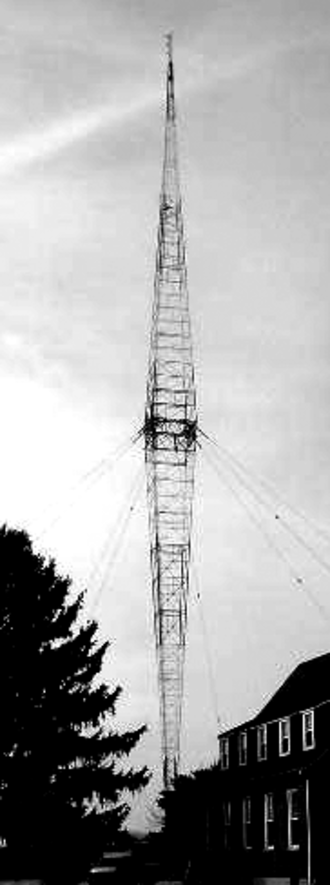 Broadcast transmitter - Antenna guyed tower