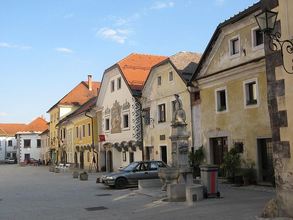 Radovljica old town centre