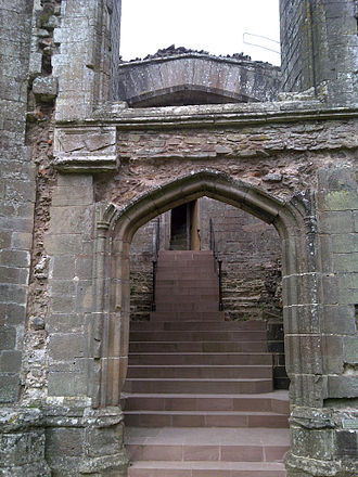 Raglan Castle - The Grand Staircase, restored between 2010 and 2011