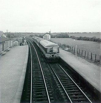 CIÉ 2600 Class - Car 2613 heads a railcar set entering Laytown in July 1970