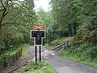 Railway Crossing near Abergynolwyn Station - geograph.org.uk - 229839.jpg
