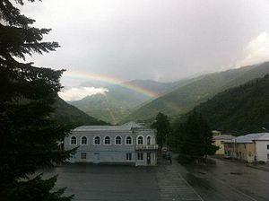 Lentekhi - Image: Rainbow in Lentekhi