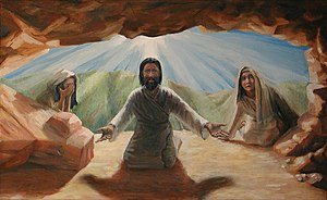 Raising of Lazarus. Jesus calls out Lazarus fr...