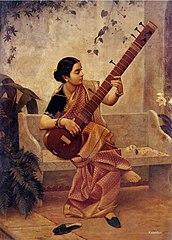 Kadambari Raja Ravi Varma Painting Oil Buy Online