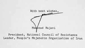 Massoud Rajavi - Image: Rajavi, Massoud Signature 30.05.1986