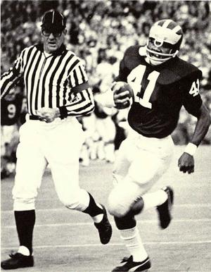 Randy Logan - Logan returns an interception for a touchdown against Tulane, 1972