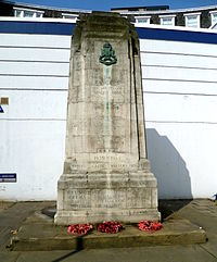Rangers memorial, North Crescent, Chenies Street.JPG