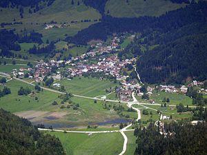 Rateče - Rateče, view from Mt. Ciprnik (July 2016)