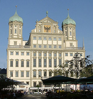 Augsburg Town Hall - Image: Rathaus Augsburg perspective