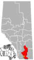 Raymond, Alberta Location.png