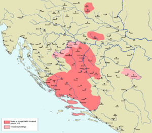 Hrvoje Vukčić Hrvatinić - Realm of Hrvoje Vukčić in the early 15th century