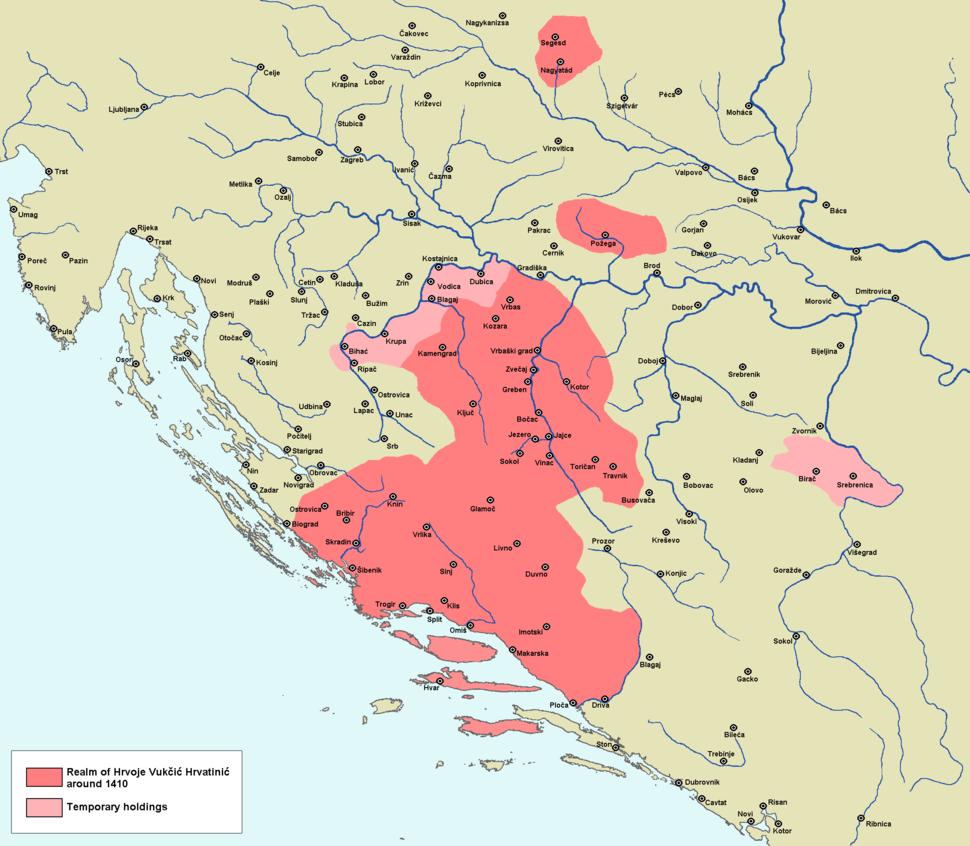 Realm of Hrvoje Vukčić Hrvatinić