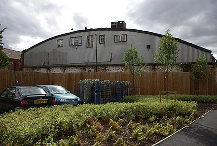 The rear of Rich Bitch Studios, where Napalm Death recorded both sides of Scum in studio sessions, one each in 1986 and 1987, featuring two different lineups. Rear of Rich Bitch Studios - Bournbrook by Phil Champion.jpg