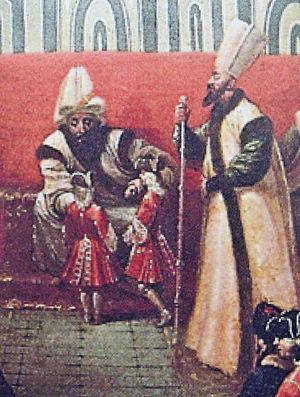 Jean-Louis d'Usson - Reception of the children of Marquis de Bonnac by the Ottoman Sultan (detail).