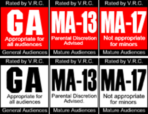 Videogame Rating Council - Image: Recoloured Ratings