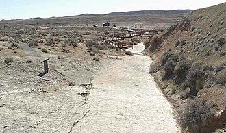 Red Gulch Dinosaur Tracksite - Walkway at the dinosaur tracksite overlook
