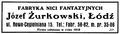 Reklama fabryki Józefa Żurkowskiego z 1928 r.tif