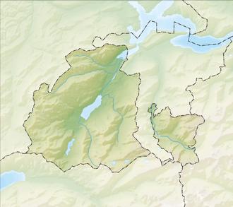 Reliefkarte Obwalden blank
