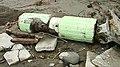 Remnants of the demolished change rooms revealed after Typhoon Usagi, 2013.jpg