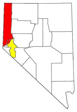 Reno–Sparks metropolitan area - Location of the Reno-Sparks-Fernley CSA, with the Reno-Sparks Metropolitan Statistical Area highlighted in red