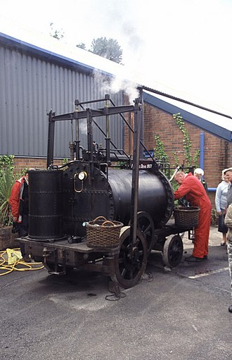 Richard Trevithick - A replica of Trevithick's Puffing Devil, built by the Trevithick Society and regularly demonstrated in Cornwall